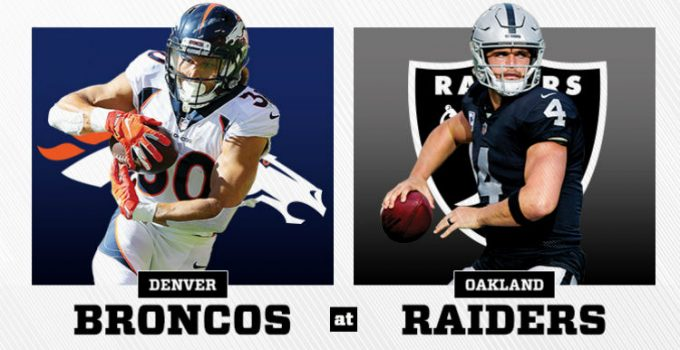 Oakland Raiders vs. Denver Broncos NFL Pick Prediction Preview